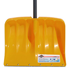 Steel edge snow shovel